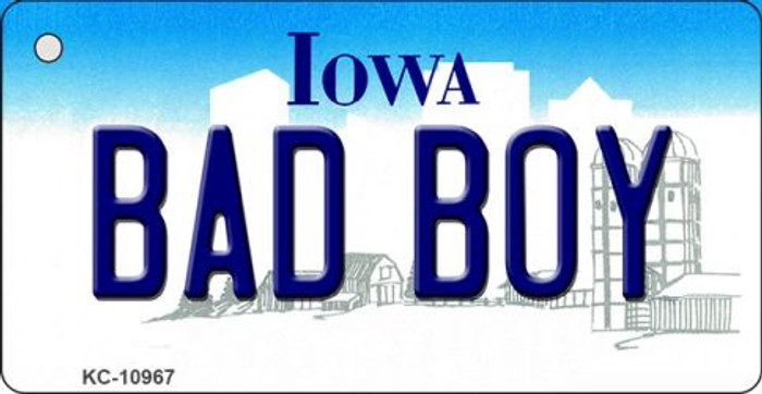 Bad Boy Iowa State License Plate Novelty Key Chain KC-10967
