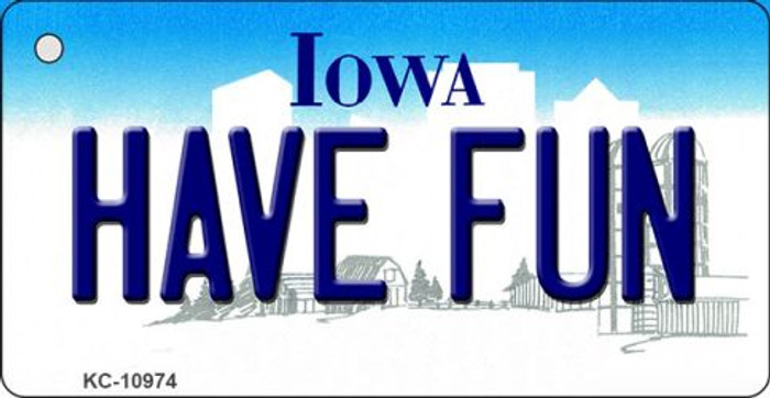 Have Fun Iowa State License Plate Novelty Key Chain KC-10974