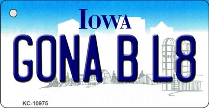 Gona B L8 Iowa State License Plate Novelty Key Chain KC-10975