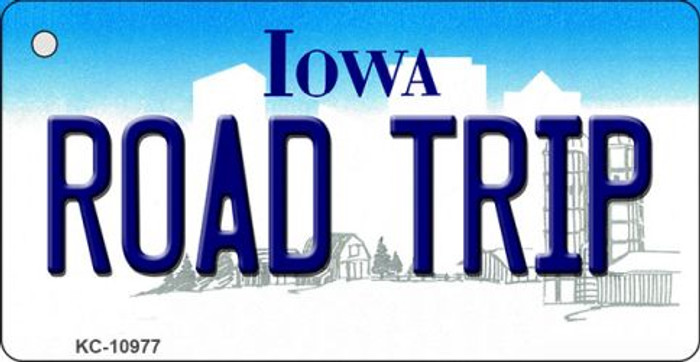 Road Trip Iowa State License Plate Novelty Key Chain KC-10977