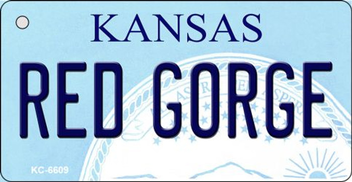 Red Gorge Kansas State License Plate Novelty Key Chain KC-6609