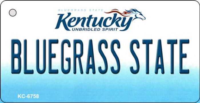 Bluegrass State Kentucky State License Plate Novelty Key Chain KC-6758