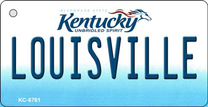 Louisville Kentucky State License Plate Novelty Key Chain KC-6761