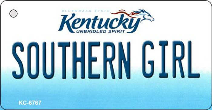 Southern Girl Kentucky State License Plate Novelty Key Chain KC-6767