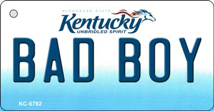 Bad Boy Kentucky State License Plate Novelty Key Chain KC-6782