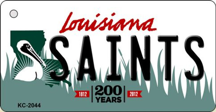 Saints Louisiana State License Plate Key Chain KC-2044