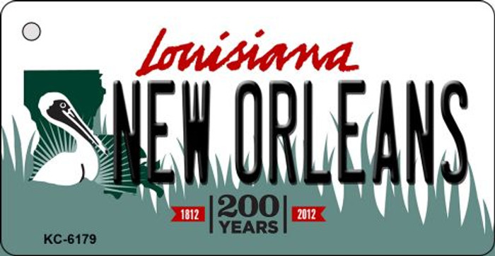New Orleans Louisiana State License Plate Novelty Key Chain KC-6179