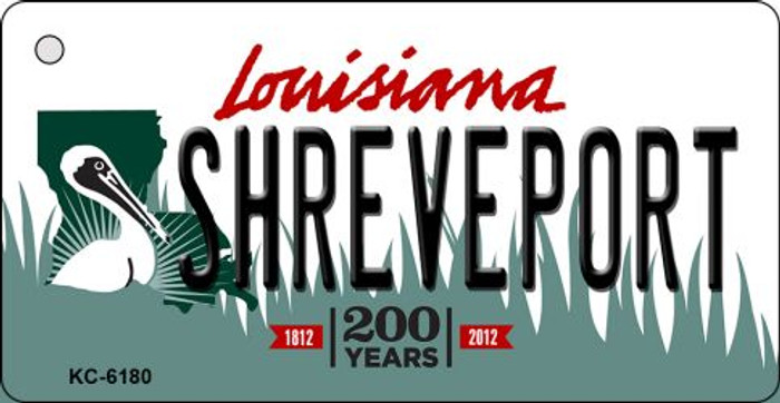 Shreveport Louisiana State License Plate Novelty Key Chain KC-6180