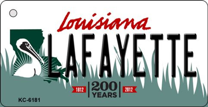 Lafayette Louisiana State License Plate Novelty Key Chain KC-6181