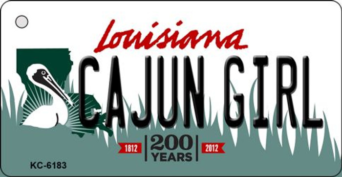 Cajun Girl Louisiana State License Plate Novelty Key Chain KC-6183