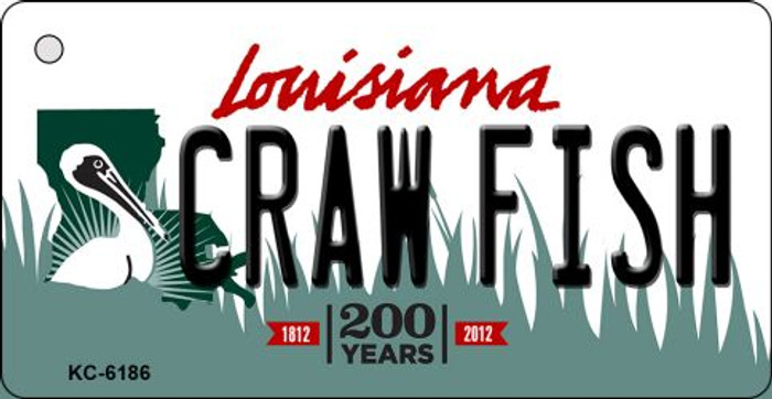 Craw Fish Louisiana State License Plate Novelty Key Chain KC-6186