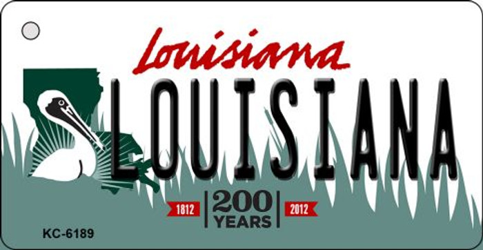 Louisiana Louisiana State License Plate Novelty Key Chain KC-6189