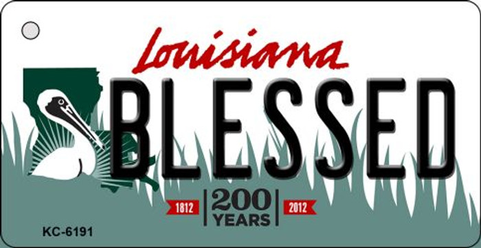 Blessed Louisiana State License Plate Novelty Key Chain KC-6191