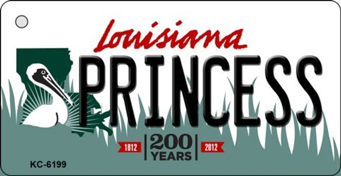 Princess Louisiana State License Plate Novelty Key Chain KC-6199