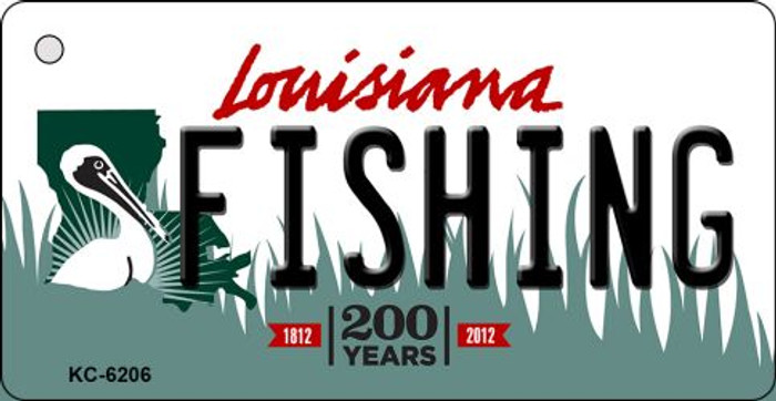 Fishing Louisiana State License Plate Novelty Key Chain KC-6206