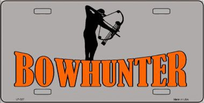 Bow Hunter Metal Novelty License Plate LP-327