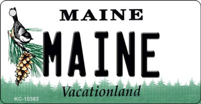 Maine State License Plate Key Chain KC-10383