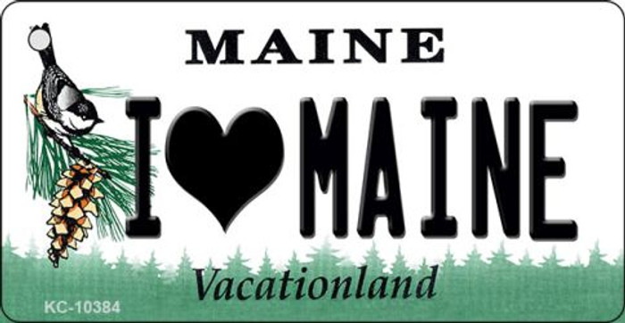 I Love Maine State License Plate Key Chain KC-10384