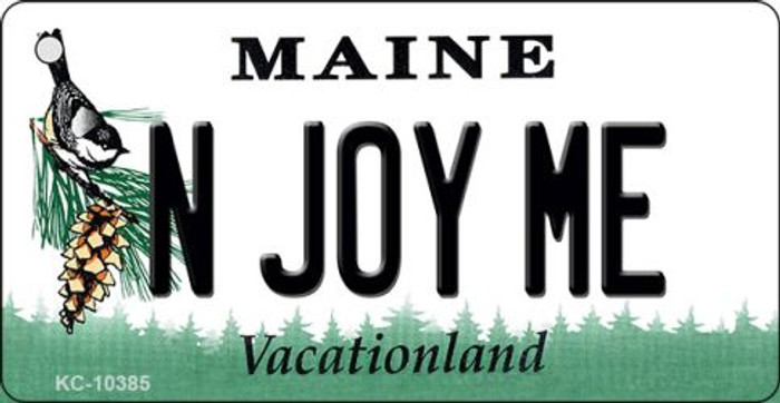 N Joy ME Maine State License Plate Key Chain KC-10385
