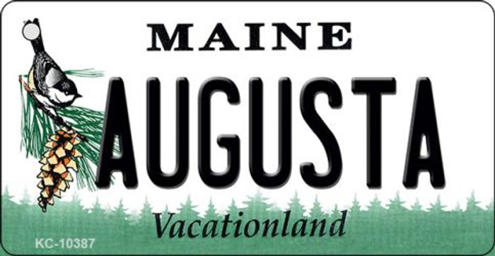 Augusta Maine State License Plate Key Chain KC-10387