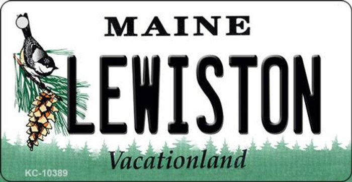 Lewiston Maine State License Plate Key Chain KC-10389
