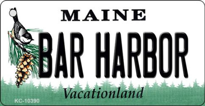 Bar Harbor Maine State License Plate Key Chain KC-10390