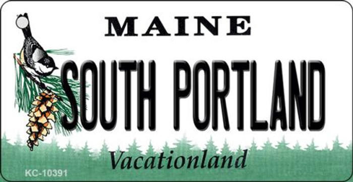 South Portland Maine State License Plate Key Chain KC-10391