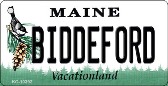 Biddeford Maine State License Plate Key Chain KC-10392