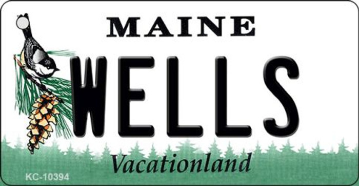 Wells Maine State License Plate Key Chain KC-10394