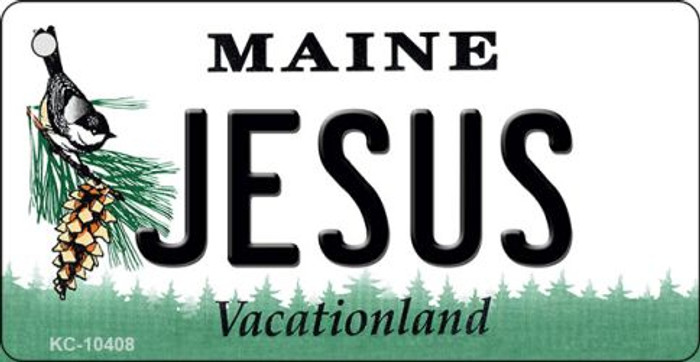 Jesus Maine State License Plate Key Chain KC-10408
