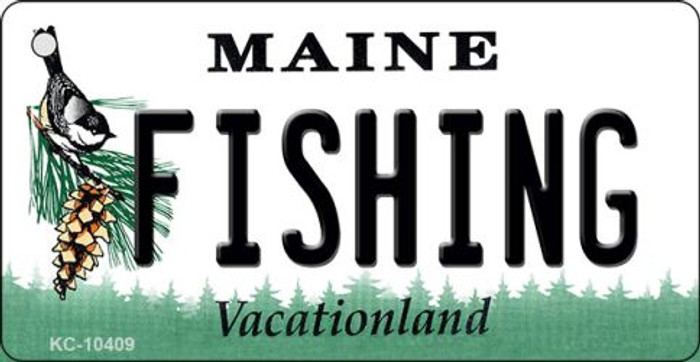 Fishing Maine State License Plate Key Chain KC-10409