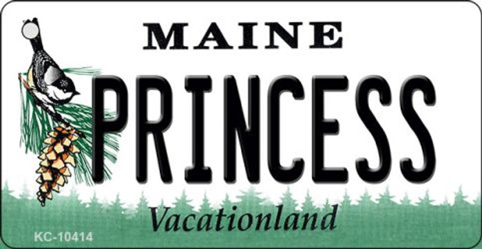 Princess Maine State License Plate Key Chain KC-10414