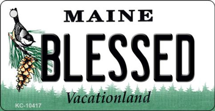 Blessed Maine State License Plate Key Chain KC-10417