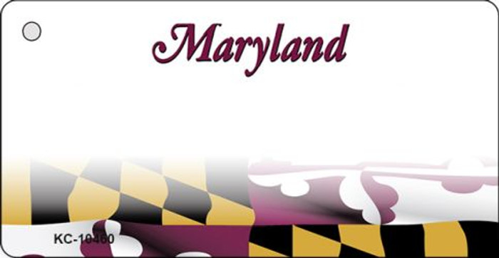Maryland Blank State License Plate Key Chain KC-10460