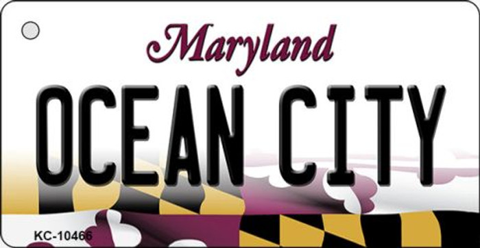 Ocean City Maryland State License Plate Key Chain KC-10466