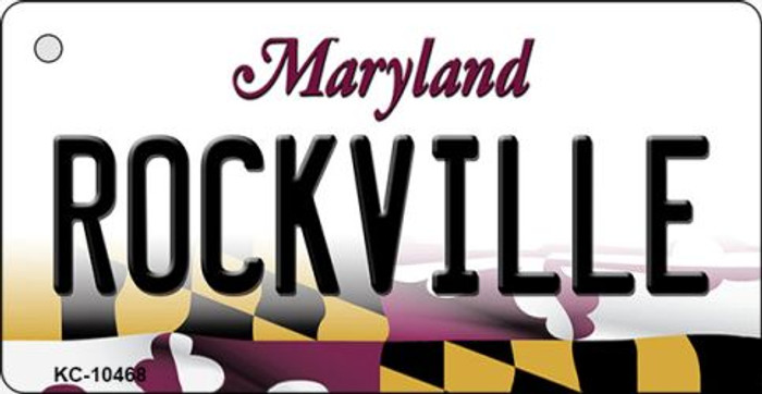 Rockville Maryland State License Plate Key Chain KC-10468