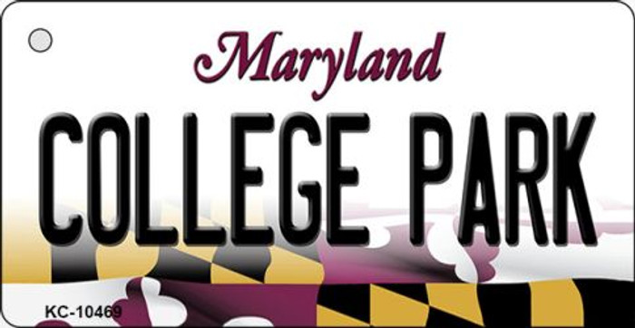 College Park Maryland State License Plate Key Chain KC-10469