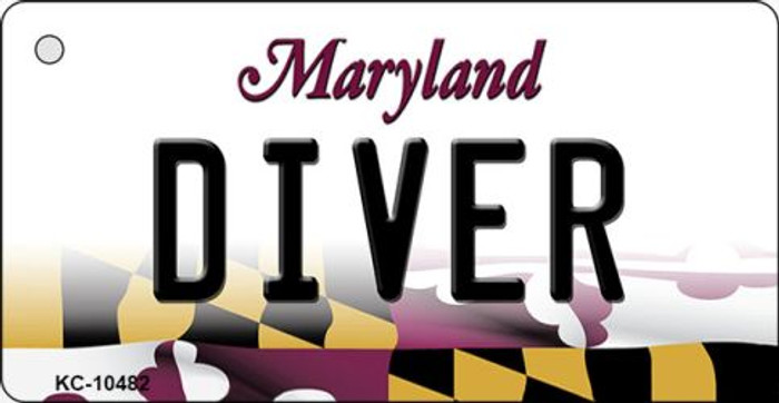 Diver Maryland State License Plate Key Chain KC-10482