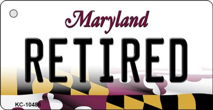 Retired Maryland State License Plate Key Chain KC-10486