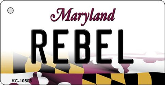 Rebel Maryland State License Plate Key Chain KC-10505