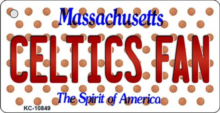 Celtics Fan Massachusetts State License Plate Key Chain KC-10849