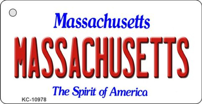 Massachusetts State License Plate Key Chain KC-10978