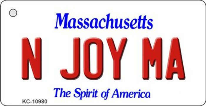 N Joy MA Massachusetts State License Plate Key Chain KC-10980