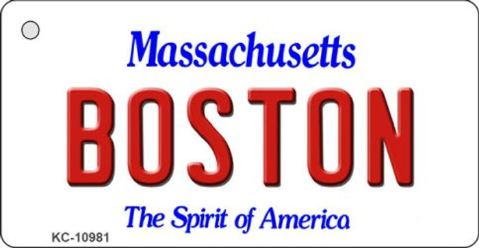 Boston Massachusetts State License Plate Key Chain KC-10981