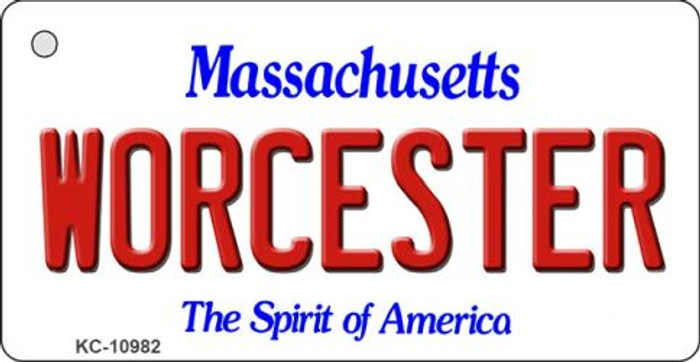 Worcester Massachusetts State License Plate Key Chain KC-10982