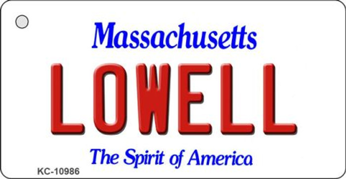 Lowell Massachusetts State License Plate Key Chain KC-10986