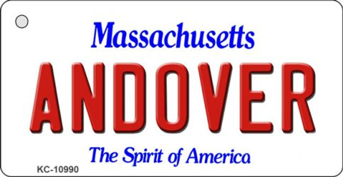 Andover Massachusetts State License Plate Key Chain KC-10990