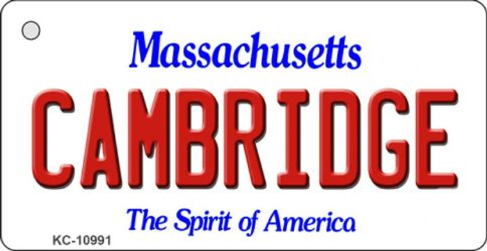 Cambridge Massachusetts State License Plate Key Chain KC-10991