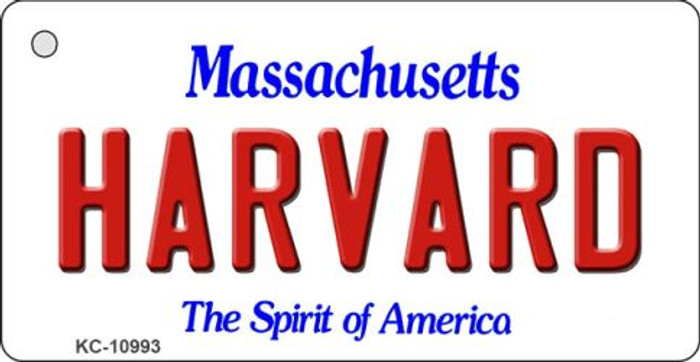 Harvard Massachusetts State License Plate Key Chain KC-10993