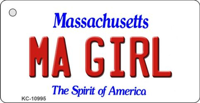 MA Girl Massachusetts State License Plate Key Chain KC-10995